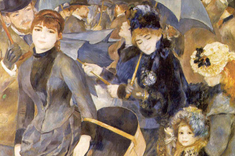 intertextual relationship between renoir's parte de Dance at le moulin de la galette is famous as one of the most remarkable works from the renoir's collection it wasn't an imaginable picture, though the moulin galette was a real outdoor dancehall with café, and this place was really popular among the circle of the painters working in paris.